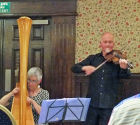 After dinner on the third evening we were entertained by Bil Efans and Ann Hopcyn, two very talented musicians.
