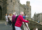 In the afternoon we had a guided tour of Caernarfon Castle. Here we were waiting to be admitted