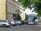 Our coach at the Celtic Royal Hotel, Caernarfon